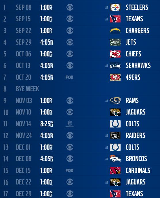 titans schedule